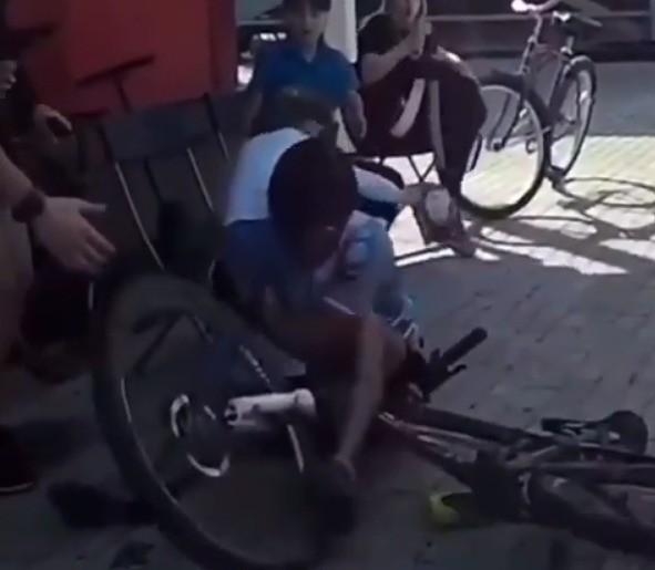 велосипедист в Лобне