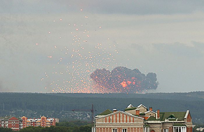 Пожары и взрыв в Ачинске