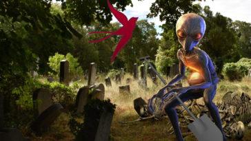 Пришелец на кладбище