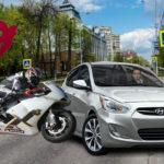 столкновение иномарки и мотоцикла
