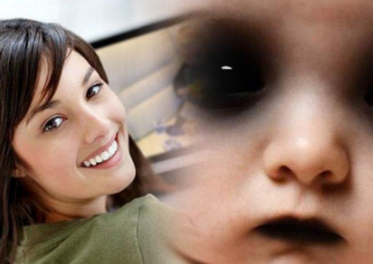 Женщина следила ночью за своим ребёнком, но вместо него увидела нечто похожее на демона, фото
