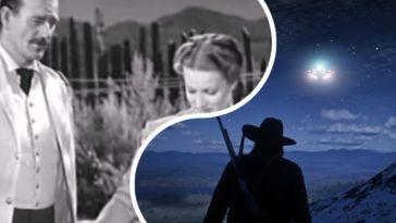 НЛО, появившиеся в старом вестерне, шокировали интернет, фото